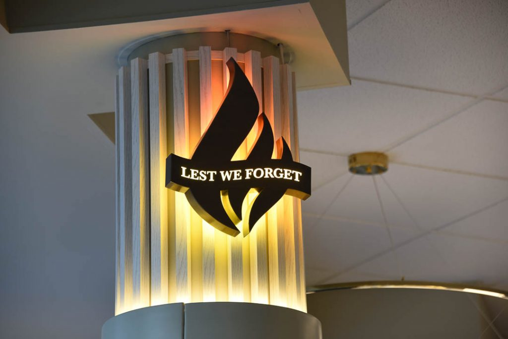 picture of lest we forget sign at nambucca rsl